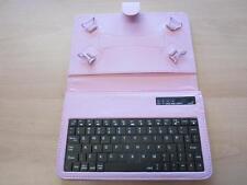 """Rosa Teclado Bluetooth portátil ángulo Carcasa Con Soporte Para Tablet 7"""" Cube U30GT-2"""