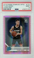 2019-20 Optic Rated Rookie Hyper Pink Prizm Tyler Herro RC #172, Graded PSA 9