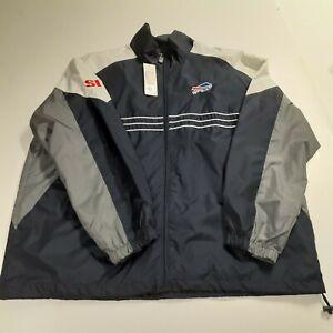 Buffalo Bills Official NFL Licensed Zipper Windbreaker - Size XXL - NWT Reebok