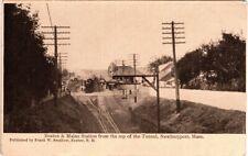 New Hampshire Rail Road Station Top of Tunnel Newburyport RPPC - Nice Card!