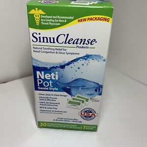 SinuCleanse Neti Pot Genie Style w/ 30 Pharmaceutical Grade Saline Packets