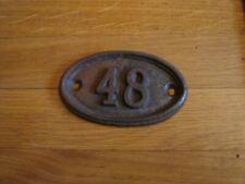 genuine antique vintage cast iron door house train number cottage no 48