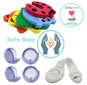 Safety security protector doorstop guard drawer cupboard lock corner cushion