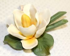 Porcelain Water Lily Handmade by Capodimonte, Brand New in Box