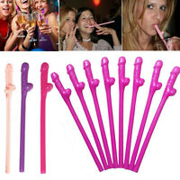10pcs/Lot Penis Pecker Willy Dicky Drink Straws Fun Gags Hens Night Party Straws