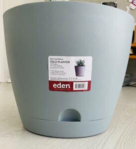 Indoor /& Outdoor Made in AU 250mm Self Watering Plastic Garden Pots x 6pcs