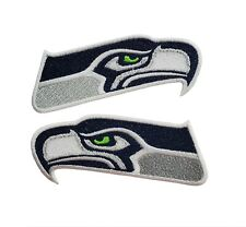 Seattle Seahawks NFL Football 2PK Sleeve Fully Embroidered Iron On Patches