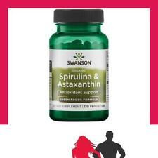 Swanson - Spirulina & Astaxanthin, Organic - 120 veggie tabs