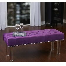 Benches for Living Room End Of Bed Purple Bedroom Furniture for Teens Girls Seat