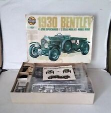 RARE Airfix 1930 Bentley Supercharged 4.5 Litre 1/12 scale Model Kit with MOTOR