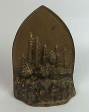 MOONLIGHT CABIN IN THE WOODS CAST IRON BOOKEND DOORSTOP ALBANY FOUNDRY