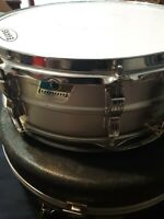 Vintage Ludwig Acrolite Snare Drum 14x5 w/ Case 1976 1970s Olive Badge Aluminum