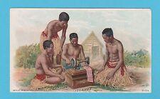 NATIONS - SINGER SEWING - RARE NATIONS / ADVERTISING CARD - CAROLINE ISLS - 1894
