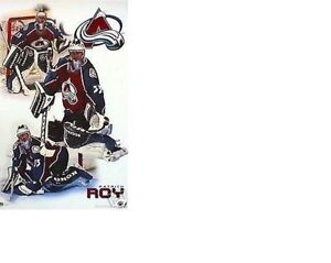 "MINT 1999 PATRICK ROY ""NOT HERE"" COLORADO AVALANCHE Hockey POSTER NO PINHOLE NOS"