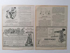 ORIGINAL Blätter Zeitschrift JUGEND Meccano Kran Ernemann Camera W389