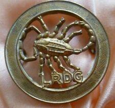 LRDG Long Range Desert Group Cap Badge All Brass 2 Lugs ANTIQUE