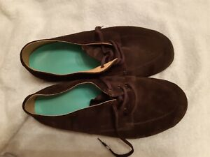 Mens handmade suede leather orthopaedic  shoes 10 brown