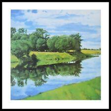 J. Winkler Water Reflections Poster Bild Kunstdruck im Alurahmen schwarz 70x70cm