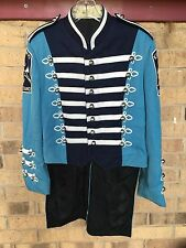 12 Marching Band Uniform KW Blue Navy White TAILS Costume sgt pepper S, M, L, XL