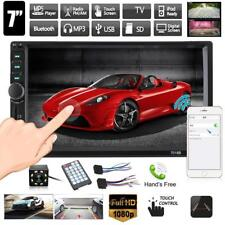 """7"""" Touch Screen 2DIN Bluetooth Car Stereo Radio MP3 MP5 FM USB AUX + 8LED Camera"""