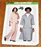 Simplicity Pattern #8169 MISSES SKIRT, PANTS & TOP - size 16 - Vintage UNCUT