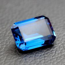 RICH ROYAL BLUE SAPPHIRE UNHEATED 4.35ct VVS 8x10MM EMERALD CUT LOOSE GEMSTONE