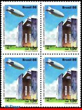 2094 BRAZIL 1986 BARTOLOMEU GUSMAO AIRPORT, ZEPPELIN, AVIATION, C-1541 BLOCK MNH