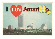 I Luv Amarillo Texas Unused Postcard 4x6 Art MD20