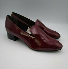 Airsoft tamaño 5, 6 Vino Rojo Charol Resbalón en Zapatos Inteligente PVP £ 60