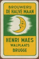 Playing Cards 1 Single Card Old DE HALVE MAAN BREWERY Beer Advertising Art MOON