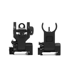 NEW Ar Tactical Flip Up Iron Sights Set 2 Steel Front + Rear Sight 15 Picatinny
