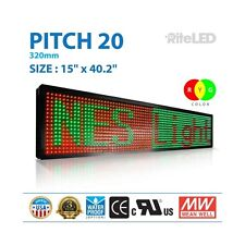"LED Sign 3 color RGY 15"" X 40""Programmable 3D Scroll Message Board"