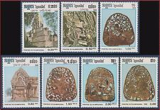 CAMBODGE Kampuchea N°653/659** Art Khmer,1986 CAMBODIA Sc#677-683 MNH