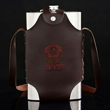 Hip Flask Liquor Whisky Portable Pocket Stainless Steel Alcohol Bottle Belt Case