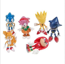 6 PCS Sonic PVC action Figure Set Toy 2.4