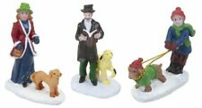 Mini Christmas Village Vintage Characters Victorian With Dogs