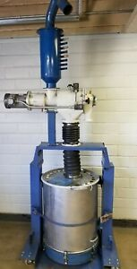 Nordson 150# Hopper on cart, with AZO E-240 Rotary Sieve