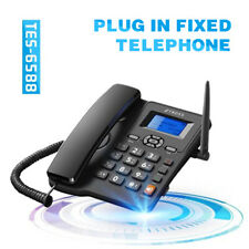 Wireless 2G Dual Card Telephone Desk Phone LCD Caller ID Landline With FM Radio