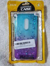 Alcatel 3, T-Mobile Revvl 2, REVVL 2 Case Rhinestone Liquid Glitter Bling Cover