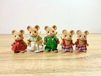 Sylvanian Families Vintage Norwood Mouse Family Wensleydale Brie Endeavour Katy
