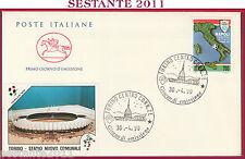 ITALIA FDC CAVALLINO NAPOLI CAMPIONE D'ITALIA 1989 - 90 TORINO STADIO 1990 T69