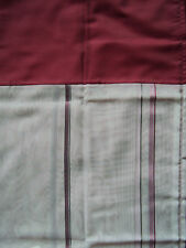 2 Vorhänge Gardinen Deko Schal flieder weiß Blende rot Schlaufen B/H 140 x 225