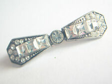 Art Deco Style Rhinestone Bar Brooch - Unsigned - Circa 1950's