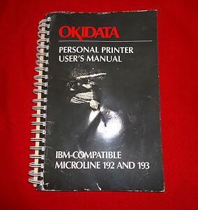 Okidata Personal Printer User's Manual  Microline 192 & 193 IBM-Compatible ©1984