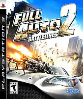 Full Auto 2: Battlelines PS3 (Sony PlayStation 3) Complete w/ Manual