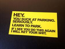 Chupas en aparcamiento pegatina X1 (180x95mm) Grande