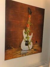 Printed Canvas:Savatage-Criss Oliva guitar-art lp rare(Trans-Siberian orchestra)
