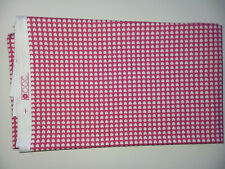Hot Pink TIny Heart print cotton fabric - 1 yard Wild 4 Fabric