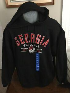 Georgia Bulldogs Champion Black Fleece Hoodie Sweatshirt Size Large NWT