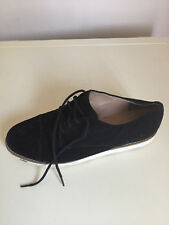LADIES WOMEN FRENCH CONNECTION BLACK SUEDE FLAT SHOES SIZE 6-6.5 UK